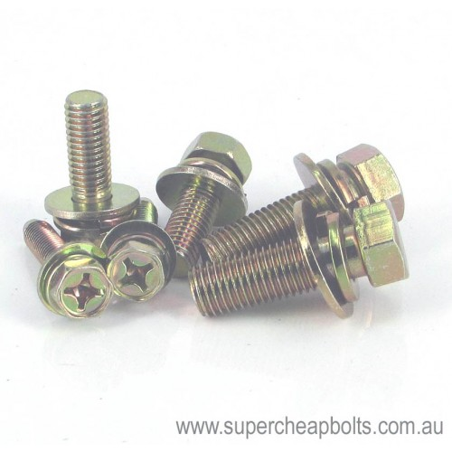 11346 - Metric - Low Tensile - Hex Head - Sems Assembly