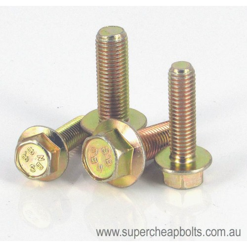 1324464 - Metric - Class 8.8 - High Tensile - Zinc Yellow Plated - Hex Flange Head - Bolt