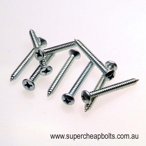 2081215 - Self Tapping Screws - Pan & Countersunk Heads With Complementary Driver Bit