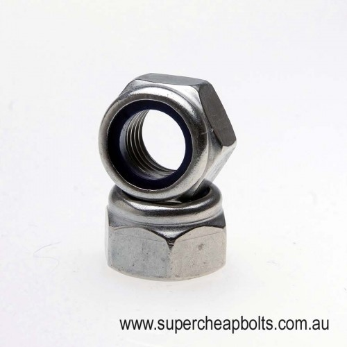 402403436 - Metric Coarse - Stainless Steel - Nylon Insert Lock Nuts