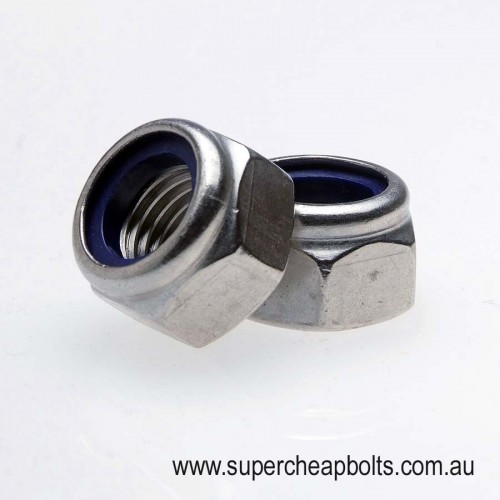 402303436 - BSW - Stainless Steel - Nylon Insert Lock Nuts