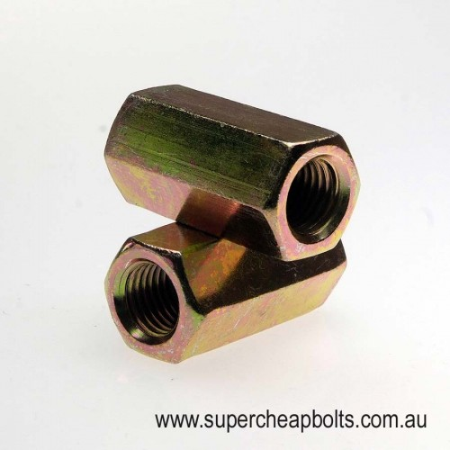 50338 - BSW - Mild Steel - Zinc Plated - Hex Rod Coupler