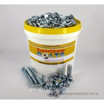 "AV02 (1104 pcs) 44 Sizes 1/4"" to 5/8"" Diameter UNC Grade 5 & Grade 8 High Tensile Bucket of Bolts Assortment of Zinc Plated Nuts, Bolts, Set Screws & Spring Washers."