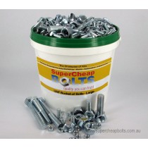"AV08 (1065 pcs) 44 Sizes 1/4"" to 5/8"" Diameter UNF Grade 5 & Grade 8 High Tensile Bucket of Bolts Assortment of Zinc Plated Nuts, Bolts, Set Screws & Spring Washers"