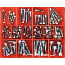 CA1417 (90 pieces) Socket Head Cap Screws, Metric Coarse, High Tensile, Black Finish. 14 Sizes: M5 to M10 Diameter