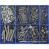 CA1890 (295 pieces) Countersunk Head Phillips Drive, Machine Screws, Stainless Steel Marine Grade 316/A4. 14 Sizes: M5 to M6 Diameter - Lengths 16mm to 50mm