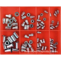 CA505 (80 pieces) Rivet Nuts (Nut-Serts), Zinc Plated. 5 Sizes M4 to M10 Diameter