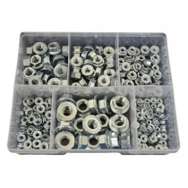 FG01606 (230 pcs) Zinc Plated Metric Coarse Flange Nuts