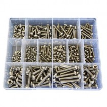 FG04414 (345 pcs) M3, M4, M5 & M6 Marine Grade 316 Metric Coarse Pan Head Phillips Machine Screws
