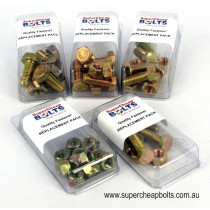 AV37120-RP UNC Grade 5 High Tensile Zinc Plated Bolts, Set Screws, Nuts & High Tensile Flat Washers Replacement Packs