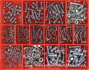 CA21 (520 pieces) Pan Head Phillips Drive, Machine Screws, Zinc Plated. 12 Sizes: M3 to M6 Diameter -Lengths 10mm to 25mm